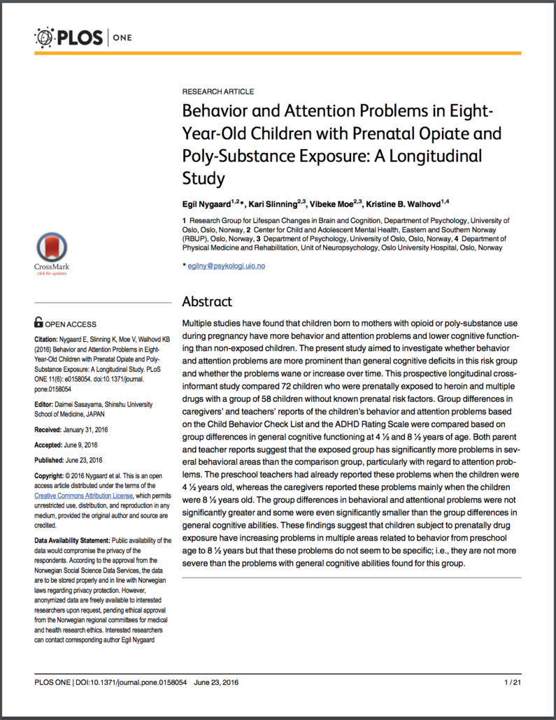 Cognition And Behavior Attention >> Behavior And Attention Problems In Eight Year Old Children With